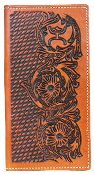 "(TD1642137W6BR) ""Hooey Signature"" Brown Leather Rodeo Wallet"