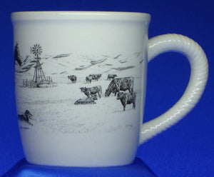 "(TG63-3) ""Cattle Country"" Western Ceramic Mug"