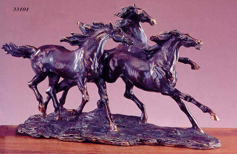 "(TN33101) ""Three Horses Large"" Sculpture"