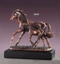 (TN53245) Western Mare & Foal Sculpture