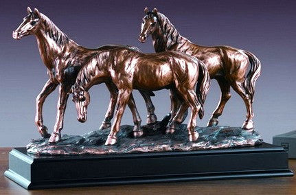 (TN53165) Western Three Horse Sculpture - 10