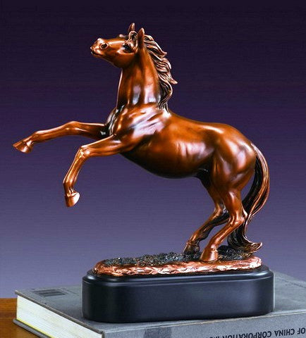 "(TN53210) Western Horse Sculpture 10"" Tall"