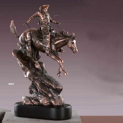 Western Cowboy Amp Horse Sculpture 54312 Free Shipping