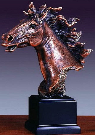 "(TN55124) Horse Head Sculpture - 11"" Tall"