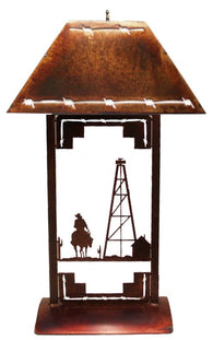 (TS041-229) Western Table Lamp - Derrick