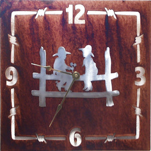 "(TS058-211) ""Young Love"" Western Steel Wall Clock"