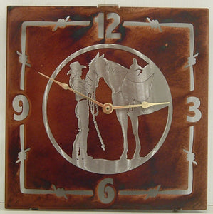 "(TS058-268) ""My Baby"" Western Steel Wall Clock"