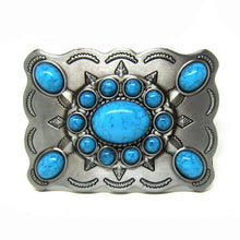 Load image into Gallery viewer, Western Turquoise  Cowgirl Belt Buckle