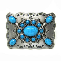 Western Turquoise  Cowgirl Belt Buckle