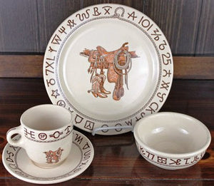 "(TW-BOSA) ""Boots & Saddle"" Western 5-Piece Place Setting"