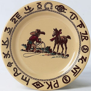 "(TW-WHCLP) ""Westward Ho Christmas "" Lunch Plate - 9"""