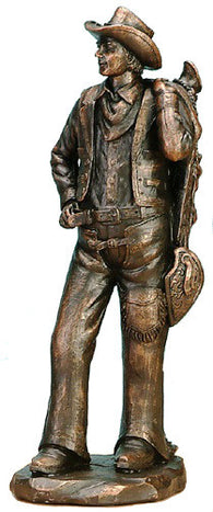 "(UG-CAC712) Western Standing Cowboy Sculpture - 13"" Tall"