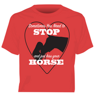 """Kiss Your Horse"" Horses Unlimited Western T-Shirt"