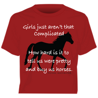 """Complicated"" Horses Unlimited Western T-Shirt"