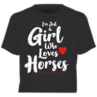"""Girl Who Loves Horses"" Horses Unlimited Western T-Shirt"