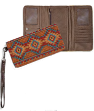 "Load image into Gallery viewer, ""Native Blanket"" Woven Ladies' Wallet"