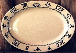 "(WC508) 14"" Western Oval Serving/Steak Platter"