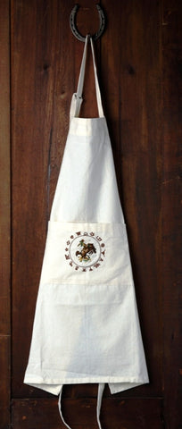 "(WCAPN-BTR) ""Bronco Buster"" Western 100% Cotton Embroidered Apron"