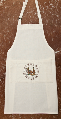 "(WCAPN-TR) ""Team Roper"" Western 100% Cotton Embroidered Apron"