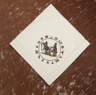 "(WCNAP-TR) ""Team Roper"" 100% Cotton Embroidered Napkins - 4-Piece Set"