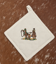 "(WCPH-TR) ""Team Roper"" 100% Cotton Embroidered Pot Holder - 2-Piece Set"