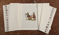 "(WCTR-TR) ""Team Roper"" 100% Cotton Embroidered Table Runner"
