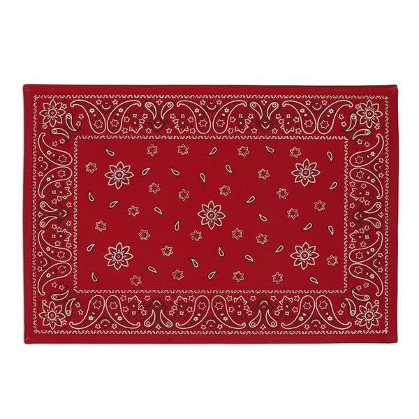 Western Red Bandana Printed Placemat