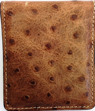 (WFABMCO5) Western Peanut Ostrich Print Money Clip with Super Magnet