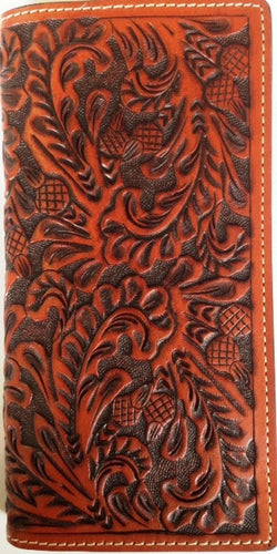 (WFAC1213) Western Tooled Leather Rodeo Wallet