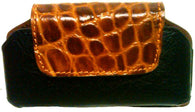 (WFAPC1051) Western Leather Gator Print Cell Phone Holder for iPhone 4 & Blackberry