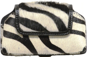 (WFAPC1117) Western Zebra Hair Holder (Holds iPhone4 & Blackberry)