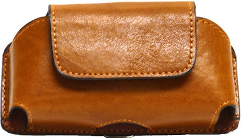 "(WFAPC1123) Western Tan Leather Cell Phone Holder for Phones up to 5-1/4"" Tall"