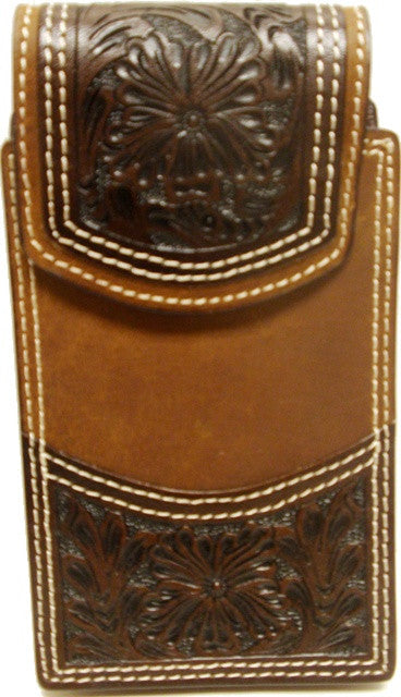 (WFAPC1202) Western Brown Tooled iPhone 5 Holder