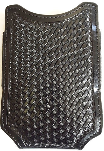 (WFAPC1241) Western Black Basketweave Open Top Cell Phone Case