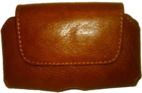 (WFAPC773) Western Tan Leather Cell Phone Holder (Holds iPhone4 & Blackberry)