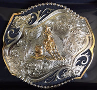 (WFATBB4000BL) Western Barrel Racer Scalloped Belt Buckle