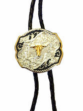 Load image into Gallery viewer, (WFATBBT303LH) Longhorn Western Tri-Color Bolo Tie