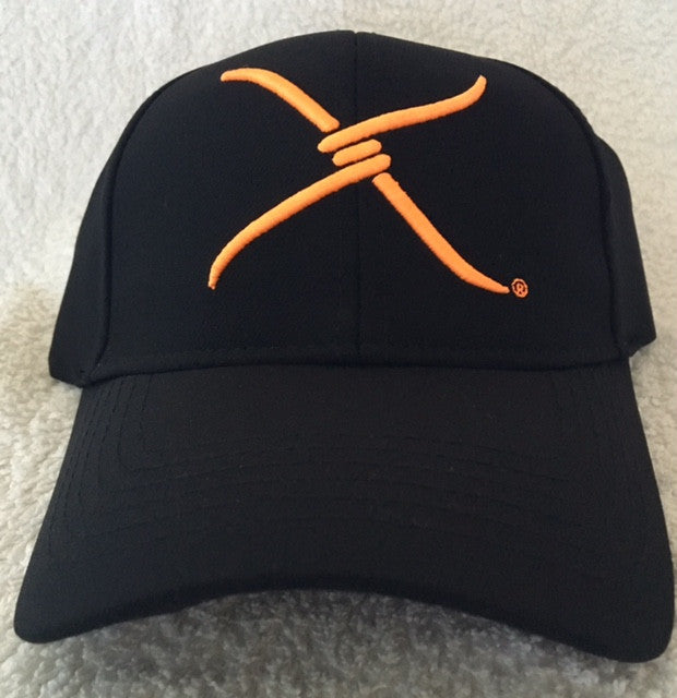 (WFAXC3) Twisted-X Flex Fit Ball Cap Black- Orange Logo
