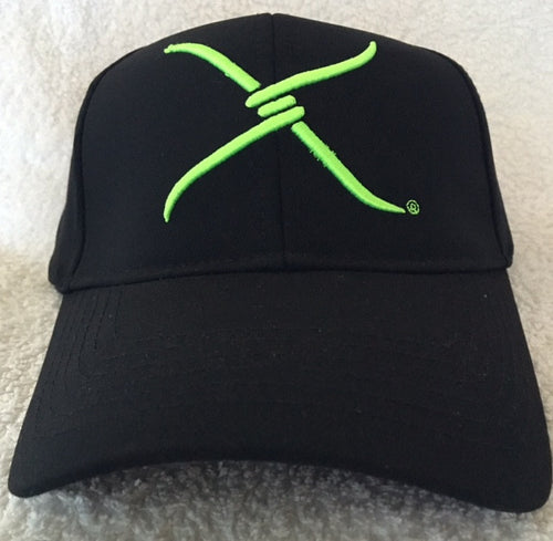 (WFAXC2) Twisted-X Flex Fit Ball Cap Black - Green Logo