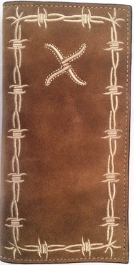 (WFAXRC-14) Twisted-X Distressed Brown Rodeo Wallet