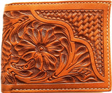 (WFAXWC4-B1) Twisted-X Tan Tooled Bi-Fold Wallet