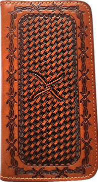 (WFAXWP3-10) Twisted-X Western Basketweave Cell Phone Case/Wallet for Samsung Galaxy S6