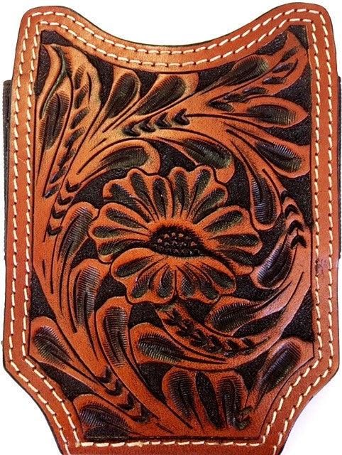 Twisted X Floral Tooled Leather Open Top Phone Case Xwpc3