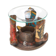 (WSM10016204) Cowboy Boots Oil Warmer