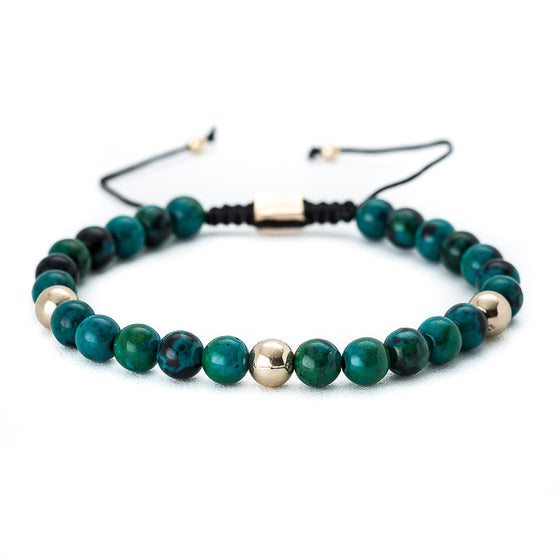 Bali Turquoise Beaded Bracelet with Gold Beads - Pearl in Oyster - Souk Madinat Jumeirah, Dubai