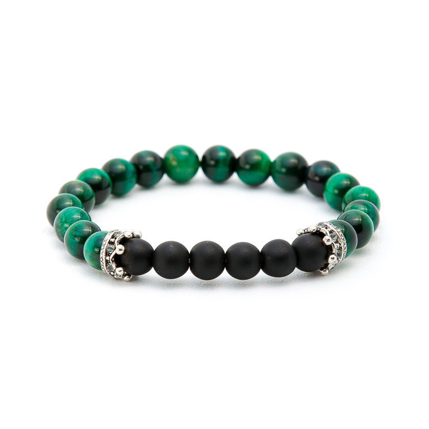 Malachite & Matte Black Onyx with Crown - Pearl in Oyster - Souk Madinat Jumeirah, Dubai