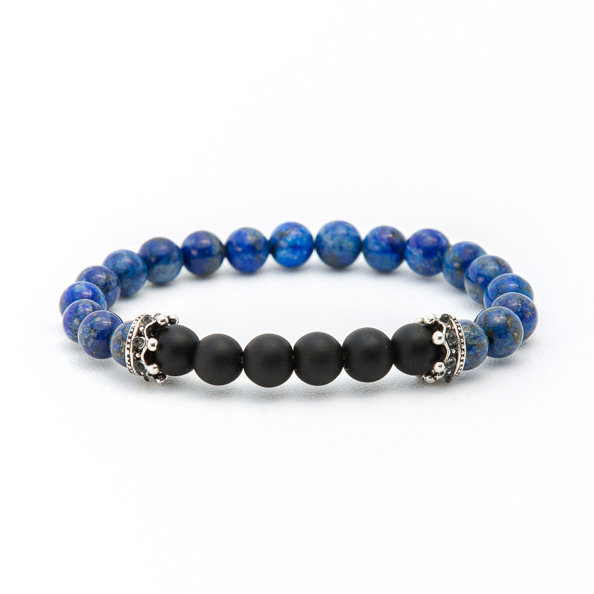 Blue Coral & Matte Black Onyx with Crown - Pearl in Oyster - Souk Madinat Jumeirah, Dubai