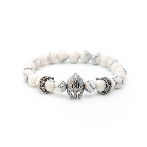 Howlite with Silver Gladiator Helmet - Pearl in Oyster - Souk Madinat Jumeirah, Dubai