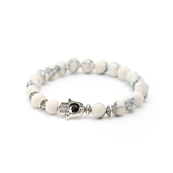 Howlite with Hand of Fatima - Pearl in Oyster - Souk Madinat Jumeirah, Dubai
