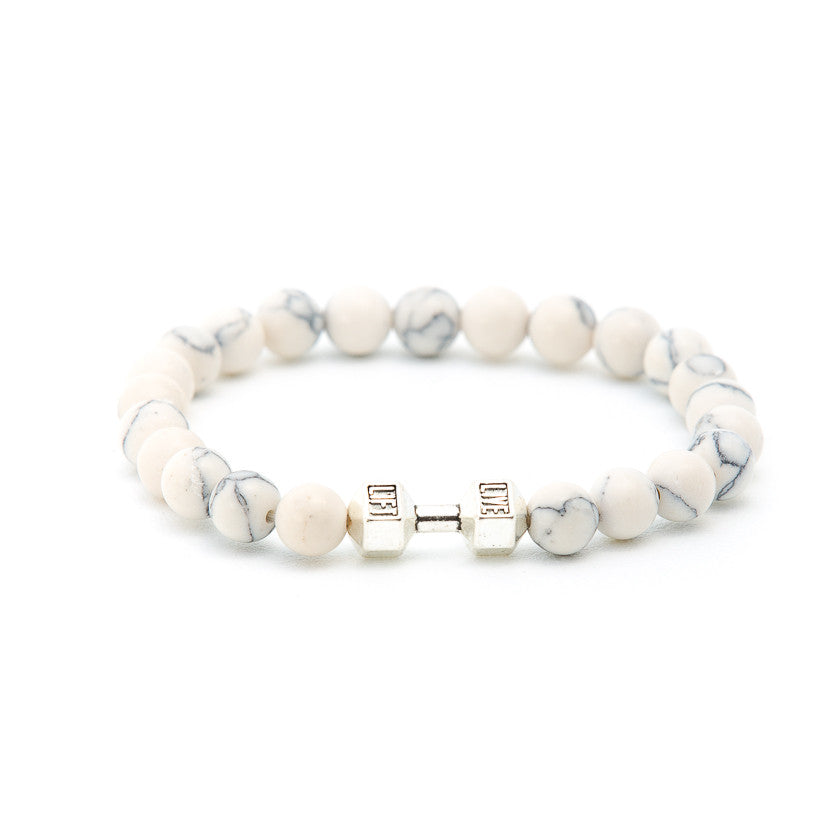 Howlite with Dumbbell - Pearl in Oyster - Souk Madinat Jumeirah, Dubai